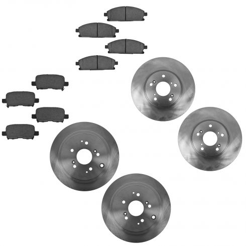 03-06 Acura MDX Front & Rear Ceramic Brake Pad & Rotor Kit