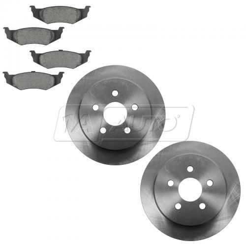 01-10 PT Cruiser Rear Ceramic Brake Pad & Rotor Kit