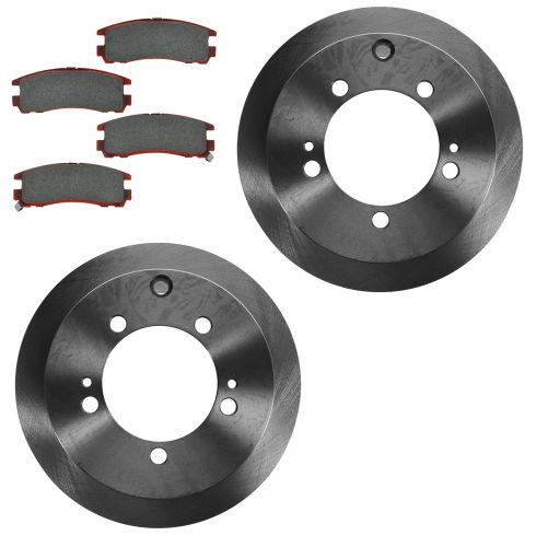 95-05 Sebring Coupe; 95-00 Avenger; 01-05 Stratus Rear Ceramic Brake Pad & Rotor Kit