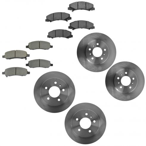 06-11 Buick Lucerne; Front & Rear Brake Rotor Semi Metallic Pad Kit