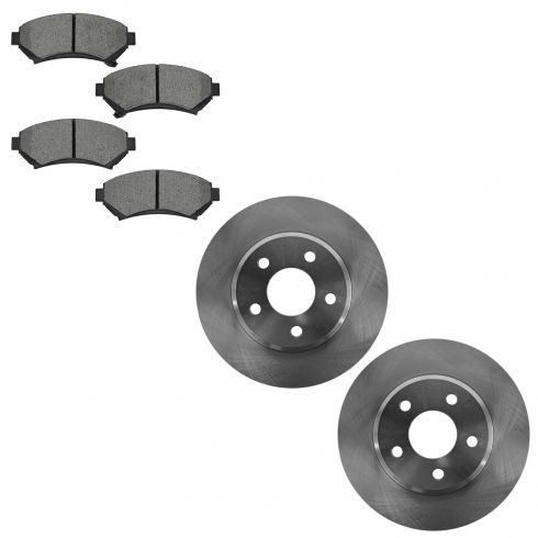 05 Lesabre, Deville, Monte, 04-05 Bonneville Front Brake Rotor & Semi Metallic Brake Pad Kit