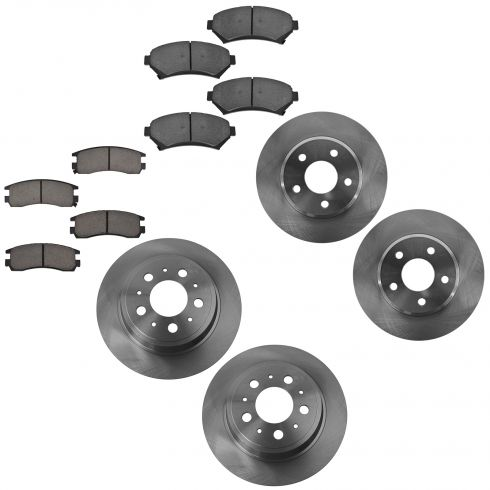 05 Lesabre, 04-05 Bonneville Front Rear Brake Rotor & Cermaic Pad Kit