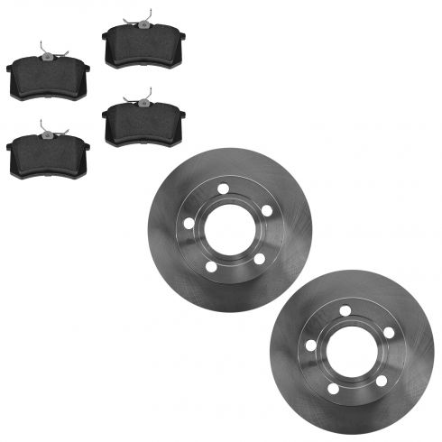 98-04 A6 Rear Brake Rotor & Ceramic Brake Pad Kit