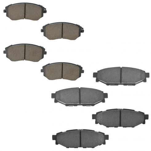 09-10 Forester; 02-10 Impreza; 06-10 Legacy, Outback Front & Rear Ceramic Brake Pad Kit