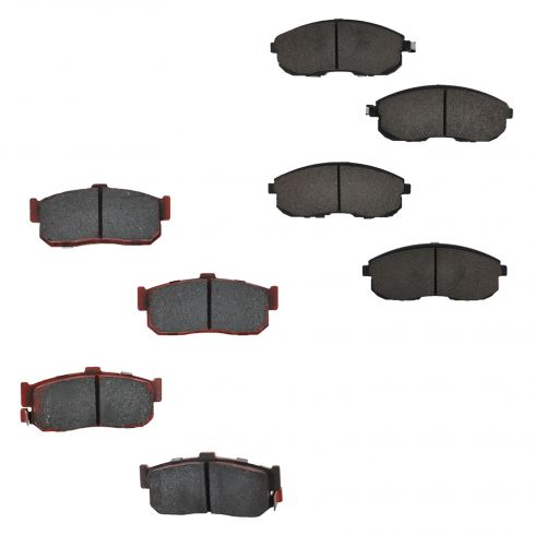 93-01 Altima; 91-99 Maxima; 00-01 Sentra Front & Rear Ceramic Brake Pad Set