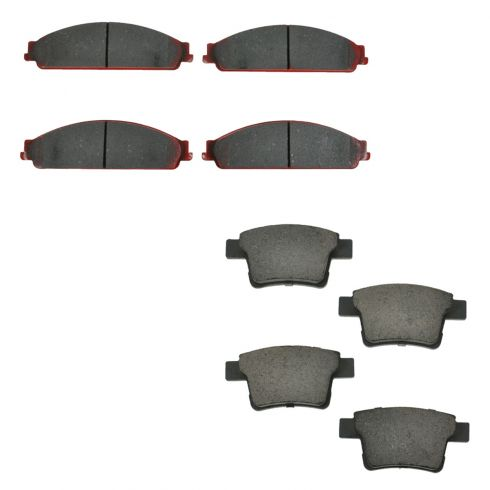 05-07 Five Hundred, Freestyle; 08-09 Taurus, Taurus X Front & Rear Brake Pad Set