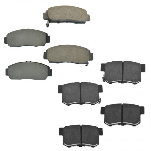 03-07 Accord; 04-08 TSX; 06-09 Civic Front & Rear Ceramic Brake Pad Kit