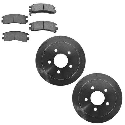 06-10 Impala; 06-07 Monte Carlo; 08-09 Lacrosse Rear Metallic Brake Pad & Rotor Kit