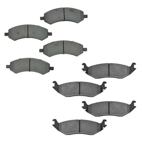 07-09 Aspen; 04-09 Durango; 02-14 Ram 1500 Front & Rear Ceramic Brake Pad Set