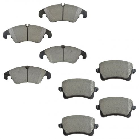 09-15 A4; 08-15 A5; 09-15 Q5 Front & Rear Semi-Metallic Brake Pad Kit