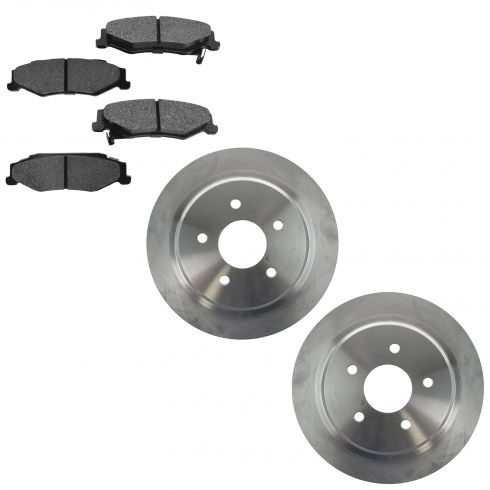 04-05 XLR; 97-04 Corvette Rear Premium Posi Semi Metallic Brake Pad & Rotor Kit