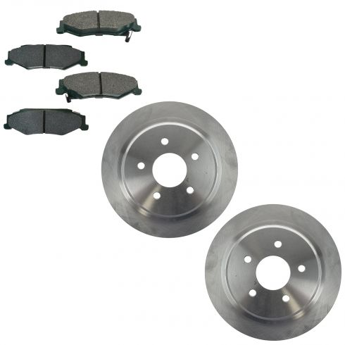 04-05 XLR; 97-04 Corvette Rear Premium Posi Ceramic Brake Pad & Rotor Kit
