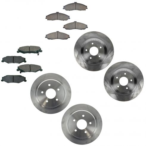 04-05 97-04 Corvette front & Rear Ceramic Brake Pad & Rotor Kit