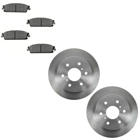 07-13 Escalade, Avalanche, 1500, Yikon Rear Ceramic Brake Pad & Rotor Kit