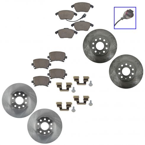10-12 Golf; 05-10 Jetta Front & Rear Ceramic Brake Pad & Rotor Kit