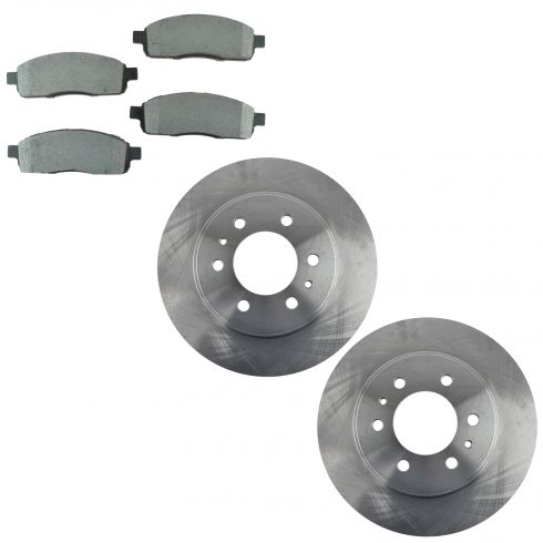 2009 Ford F150 Front Metallic Brake Pad & Rotor Kit