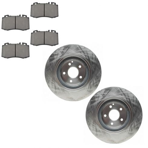 00-02 CL500; 00-03 S430; 00-03 S500; Disc Brake Front Rotor & Semi Metallic Pad Kit