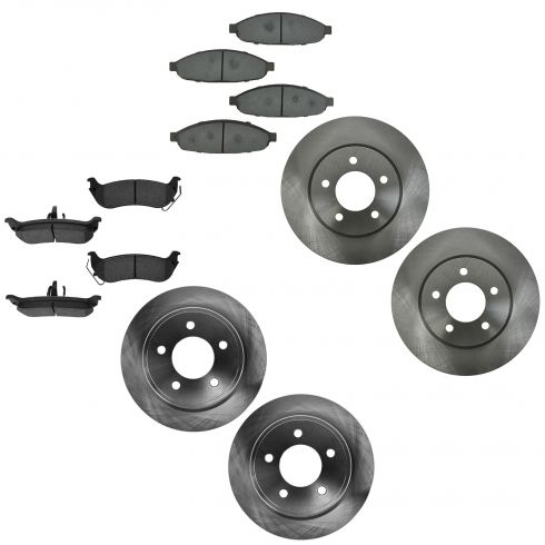 04-08 Chryler Pacifica Front & Rear Ceramic Brake Pad & Rotor Kit