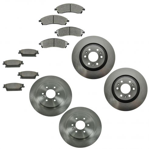 04-09 Cadillac SRX Front & Rear Ceramic Brake Pad & Rotor Kit