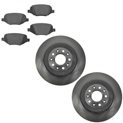11-14 Ford Edge Rear Ceramic Brake Pad & Rotor Kit
