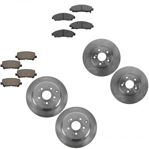 07-13 MDX 09-11 Pilot Front & Rear Ceramic Brake Pad & Rotor Kit