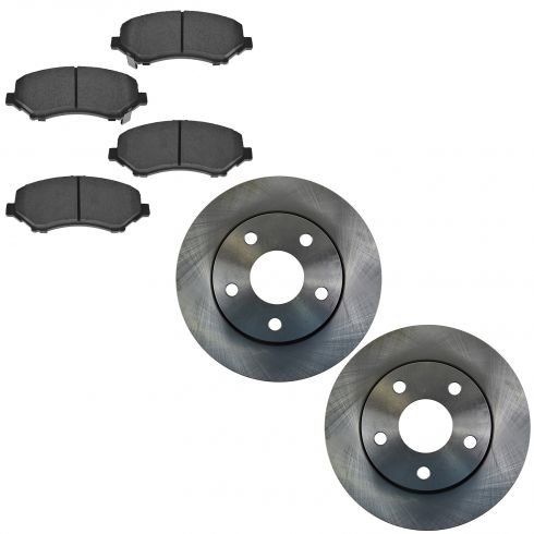 07-14 Wrangler Front Ceramic Brake Pad & Rotor Kit