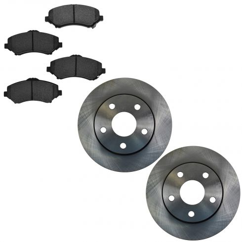 07-14 Wrangler Front Semi Metallic Brake Pad & Rotor Kit