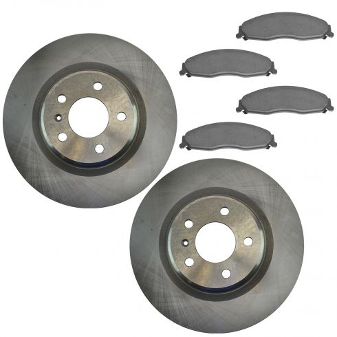 05-08 Grand Prix GXP Front Ceramic Brake Pads &  Rotor Set (Non Drilled Replacements)