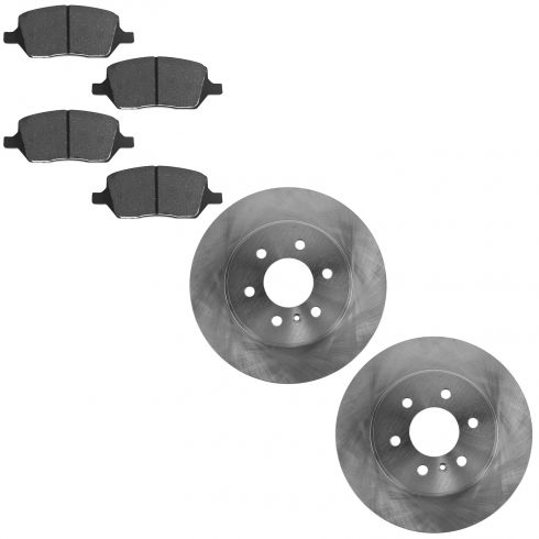 06 Terraza, Uplander, Montana, Relay Rear Brake Rotor & Posi Ceramic Brake Pad Kit