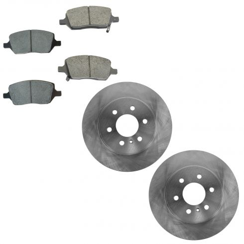 06 Terraza, Uplander, Montana, Relay Rear Brake Rotor & Posi Seme Metallic Brake Pad Kit