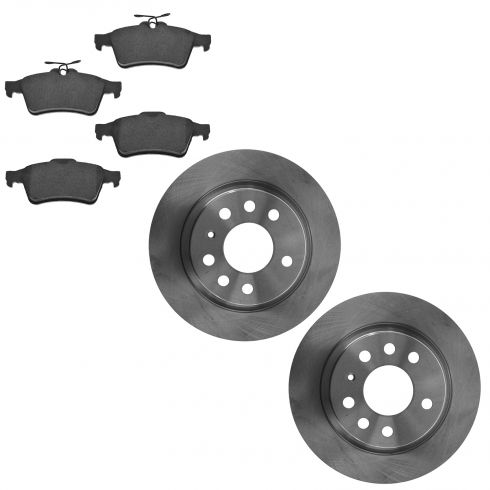 03-11 Saab Linear 9-3 Rear Brake Rotor & Ceramic Pad Kit