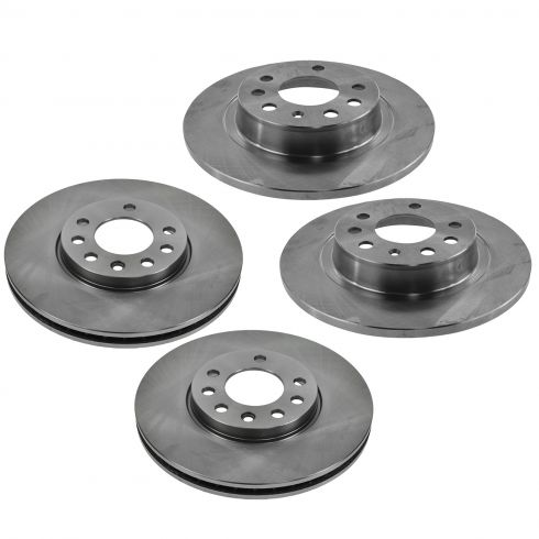 03 Saab 9-3 Sedan; 04-11 9-3 Front & Rear Disc Brake Rotor Set of 4