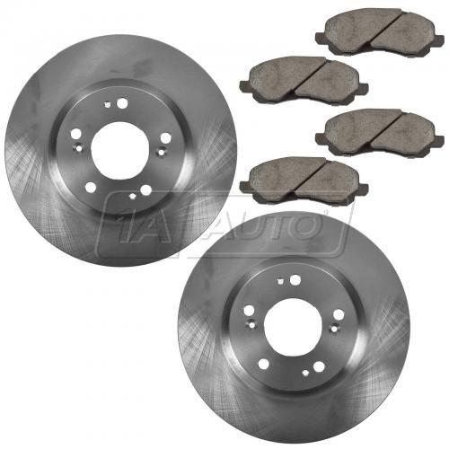 07-14 Chrysler, Dodge, Jeep, Mitsubishi Multifit Front Brake Rotor & Posi Ceramic Pads