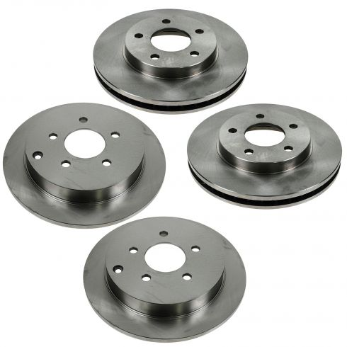 02-07 Buick Rendezvous 2WD; 01-05 Pontiac Aztek 2WD Front & Rear Brake Rotor Set of 4