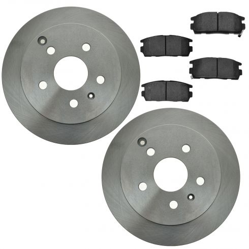 10-14 Terrain, Equinox Rear Ceramic Brake Pad & Rotor Kit