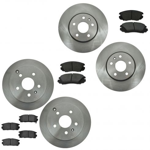 10-14 Chevy Equinox: 10-14 GMC Terrain Front & Rear Ceramic Disc Brake Pad & Rotor Set