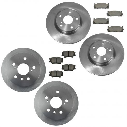 12-15 Camry, ES350, Avalon Front & Rear Premium Posi Ceramic Pad & Rotor Kit