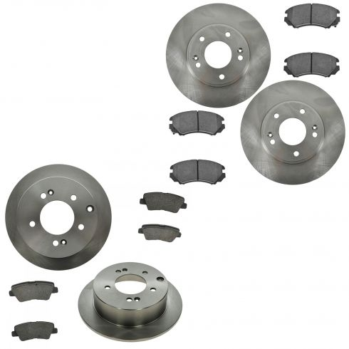 12-13  Kia Soul Front & Rear Disc Brake Rotor & Ceramic Pad Kit