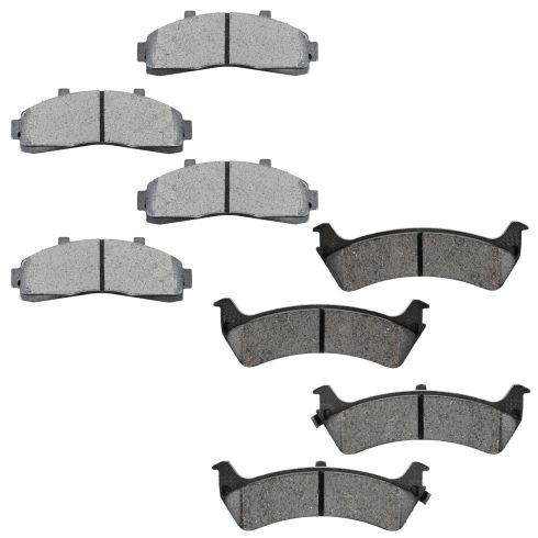 1995-02 Ford Explorer Mercury Mountaineer Front & Rear Metallic Brake Pad Kit