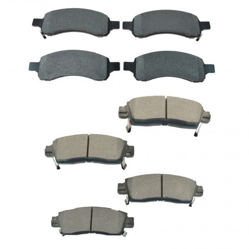 08-14 Enclave;09-14 Traverse;07-14 Acadia;07-10 Outlook F & R Premium Posi Metallic Brake Pad Set