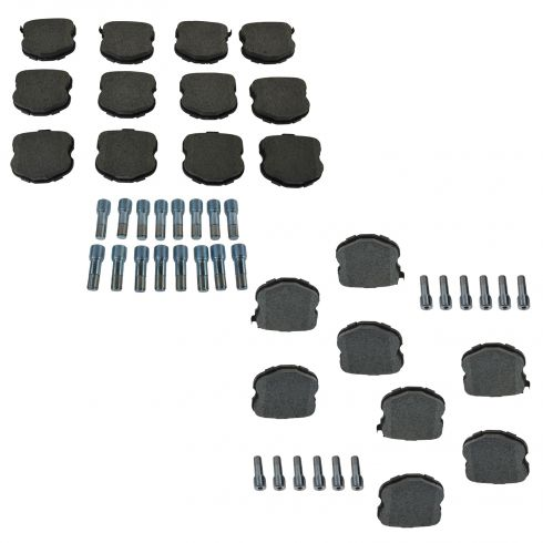 06-13 Chevy Corvette Front & Rear Semi Metallic Disc Brake Pad Set w/Alignment Pins (AC DELCO)