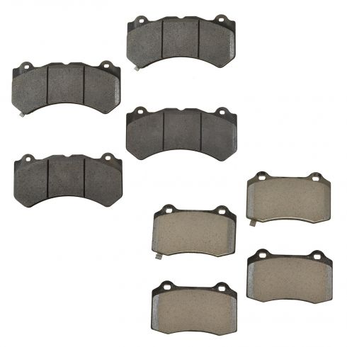 12-15 Jeep Grand Cherokee SRT8 Brembo Front & Rear Disc Brake Pad Set (Mopar)