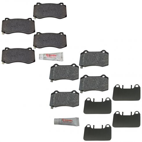 05-10 Charger, 300; 05-08 Magnum; 08-11 Challenger SRT8 Brembo Frt & Rear Disc Brake Pad Set (Mopar)