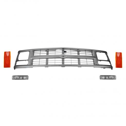 1994-98 C/K Drk Argent Grille Kit for Sealed Beam