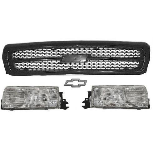 1994-96 Chevy Caprice/Impala Black Grille Set