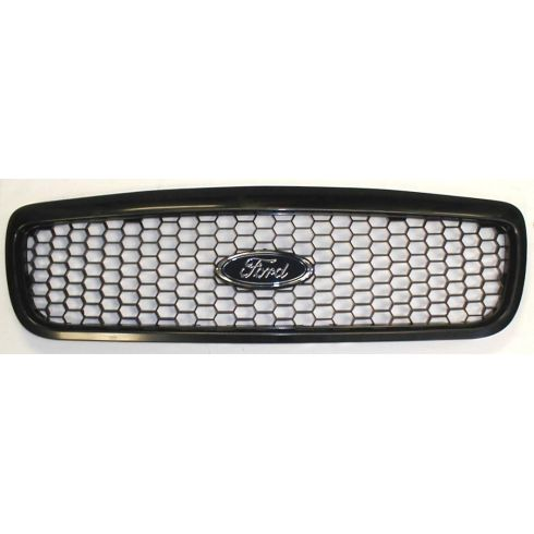 1998-08 Ford Crown Vic Honeycomb Police Grille w/FORD Emblem & Attach Hrdware