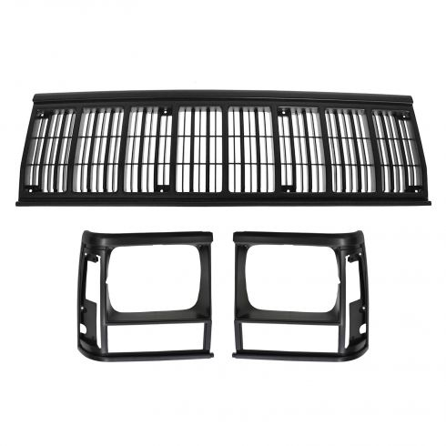 1991-96 Jeep Cherokee; 1991-92 Comanche Grille & Headlight Door SET