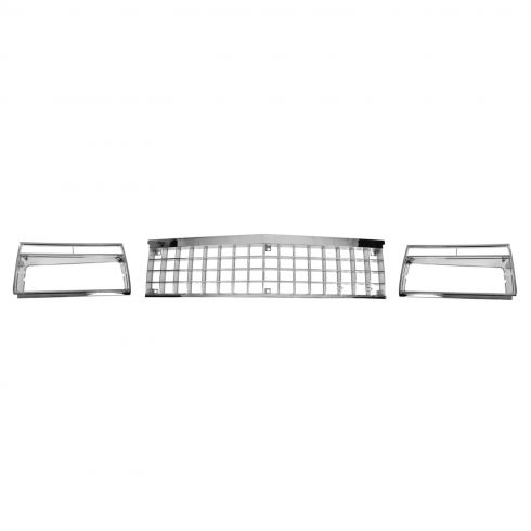 82-87 Chevy Malibu, El Camino, GMC Sprint Chrome Grille & Bezel Set
