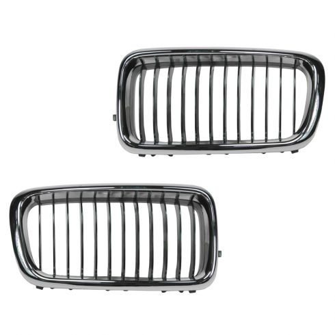 95-98 BMW 740i, 740iLi; 95-98 750i Upper Grille PAIR