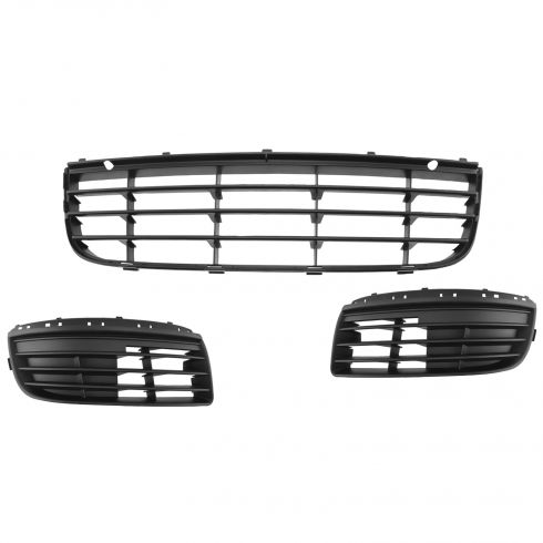 05-10 VW Jetta (8th Digit K) Lower Grille and Fog Light Cover Kit (Set of 3)